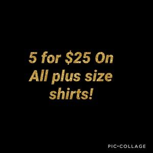 Tops - Plus Size clothing SALE 5 for $25